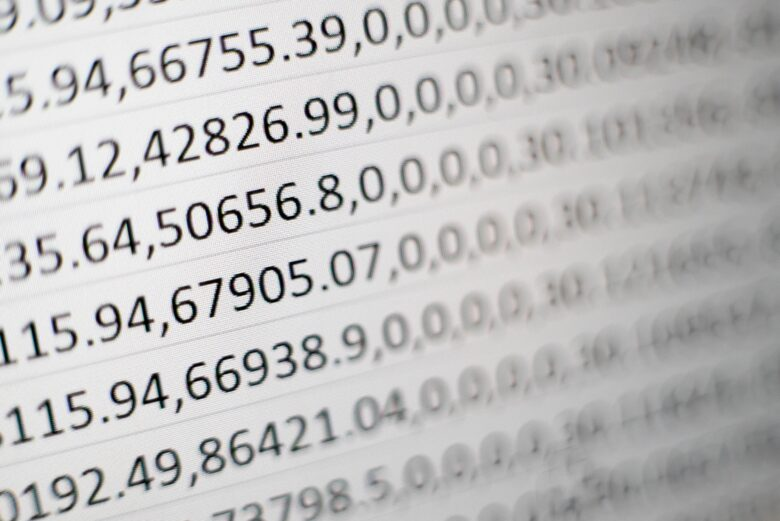white printing paper with numbers
